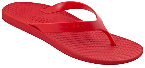 Archline Orthese Plantaire Fasciitis Opluchting Flip Flops Rood / Rood