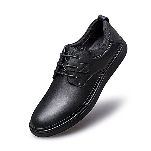 Zro Heren Classic Fashion Casual Veter Oxfords Schoenen Zwart