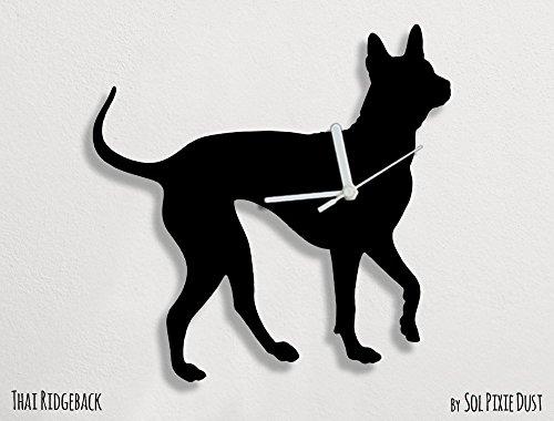 Thai Ridgeback Dog - Wall Clock by Sol Pixie Dust
