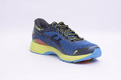 ASICS Men's Dynaflyte Running Shoe, Mid Grey/Black/Safety Yellow, 6 M US