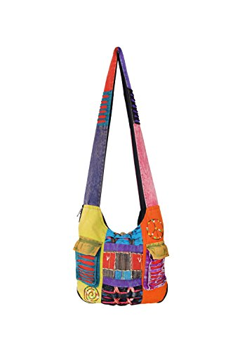 Long Hippie bags0001 Style Multicolour1 Bag Shoulder Ladies Multicoloured wvBHcA