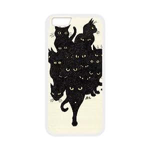 "Clzpg New Fashion Iphone6 Plus 5.5"" Case - Black Cat diy cell phone case"