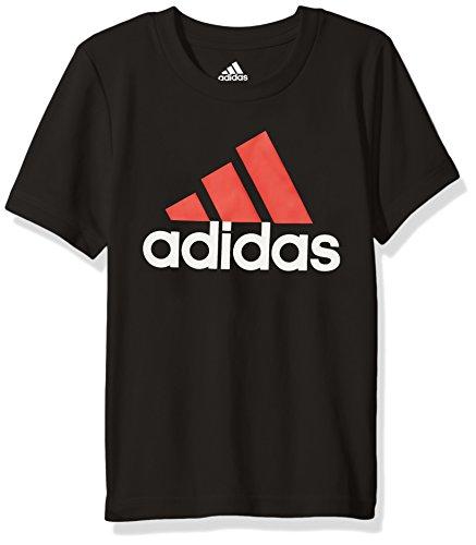 Adidas Little Boys' Clima Perfomance Logo Tee, Caviar Black, 7