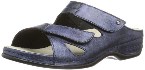 Berkemann Janna 01027-371 - Zuecos de cuero para mujer, color azul, talla 36 1/3 Azul (Blau (blau 371))