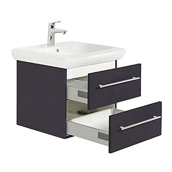 Badezimmer Waschtisch-Unterschrank in anthrazit mit 60cm ...