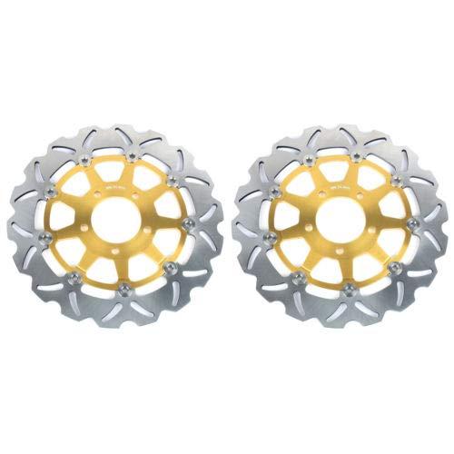 TARAZON Gold Set Bremsscheiben+Bel/äge vorne GSX-R 600 750 K4 K5 GSXR 1000 04