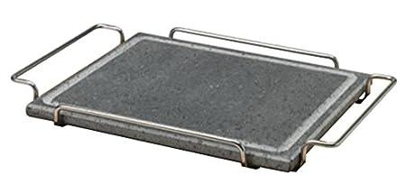 18//10 Pentole Agnelli COLA100//S Pietra Quadrata con Supporto acciaio inossidabile 25 x 25 cm