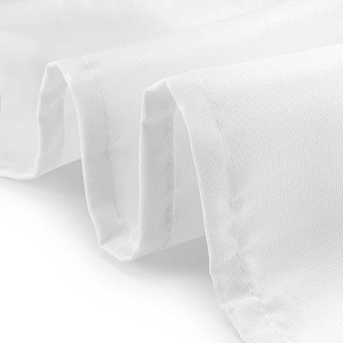 Lann's Linens - 90'' x 132'' Premium Tablecloth for Wedding/Banquet/Restaurant - Rectangular Polyester Fabric Table Cloth - White by Lann's Linens (Image #3)