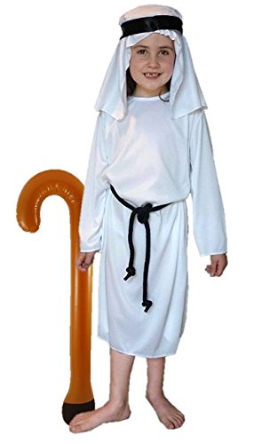 Disfraz de pastor y ladrón: - Color blanco: tamaño medio 7 - 9 ...