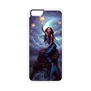 James-Bagg Phone case Mermaid And Ocean For Apple Iphone 6 Plus 5.5 inch screen Cases Style-4 hjbrhga1544