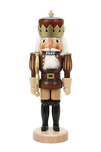 German Christmas Nutcracker Golden King - 39,5cm / 16inch - Christian Ulbricht