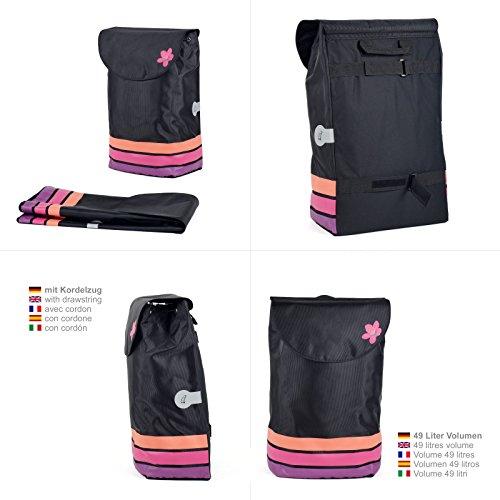 Original Andersen Royal Shopper mit Tasche Blom pink, mit 29 cm Luftreifen