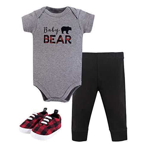 - Little Treasure Unisex Baby Bodysuit, Pant and Shoes, Baby Bear, 3-Piece Set, 9-12 Months (12M)