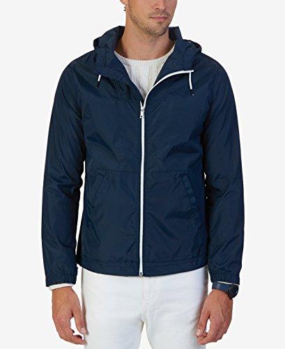 Nautica Men's Hoodied Bomber Jacket True Navy Outerwear 2XL