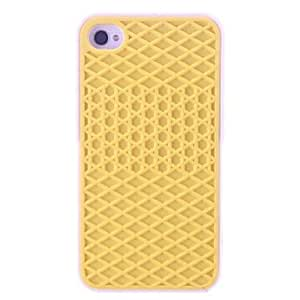 PEACH ships in 48 hours sold out Gridding Design Silicone Soft Case for iPhone 4/4S (Assorted Colors) , Yellow
