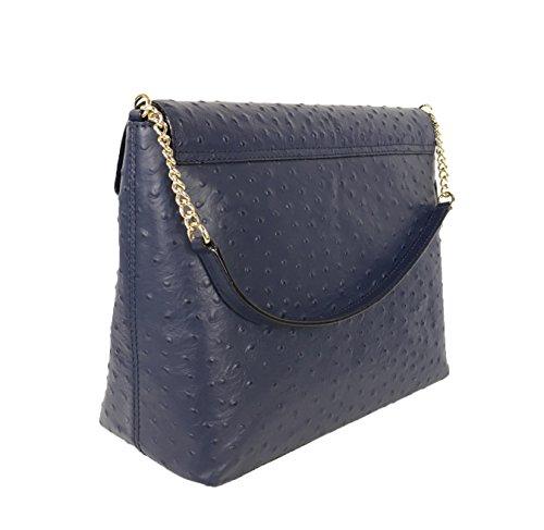 Kate-Spade-A-La-Vita-Ostrich-Leena-Shoulder-Bag-French-Navy