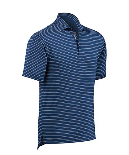 Bobby Jones Golf Apparel - Short Sleeve XH2O Jersey Line Stripe Polo Shirt for Men