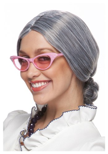 [Grey Old Lady Wig Standard] (Old Wigs)
