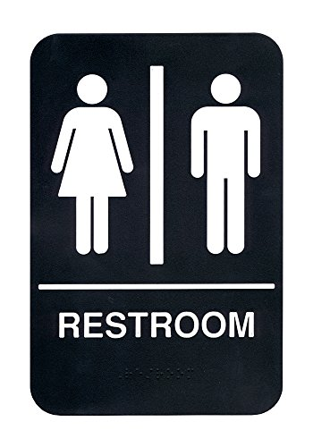 - ADA Compliant Braille Restroom Sign