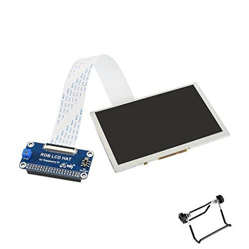 5inch IPS Display for Raspberry Pi Series Board DPI Interface, No Touch, 800x480 Supports Raspbian, Ubuntu, OSMC, etc