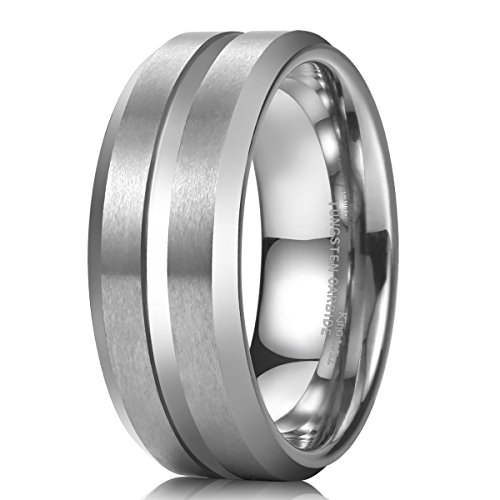 8mm tungsten rings for men - 9
