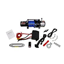 Freedom OffRoad 12,000LB 12v Electronic Recovery Winch Wireless Remote Synthetic Rope Dyneema