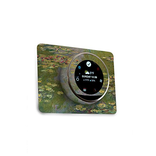 MightySkins Skin for Nest Thermostat - Water Lilies | Protective, Durable, and Unique Vinyl Decal wrap Cover | Easy to Apply, Remove, and Change Styles | Made in The USA