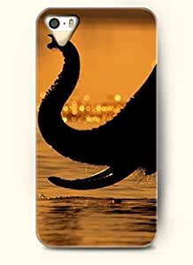 OOFIT Phone Case design with An Elephant Drinking Water for Apple iPhone 4 4s 4g