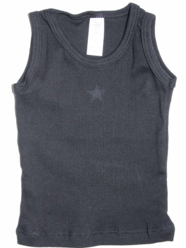 Ribbed Girls Top - YogaColors Modern Vintage Star Infant Ribbed Tank Top (12-18 Months, Black)