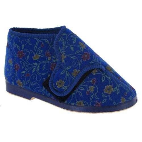 Gbs Bella Dames Pantoufles Larges Pantoufles / Femmes Bleu