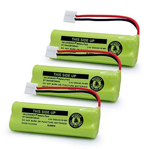 - GEILIENERGY BT18443 BT28443 BT-18443 BT-28443 89-1337-00-00 CPH-518D Battery Compatible with VTech LS-6115 LS-6117 LS-6125 LS6126 LS6225 LS6205 LS6217 LS-6205 LS-6215 Cordless Phone(Pack of 3)