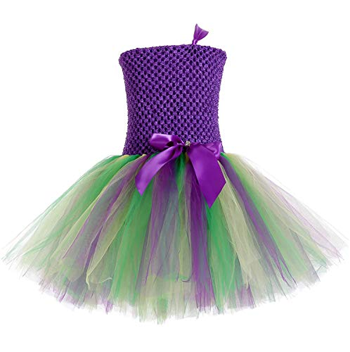 (Tutu Dreams Kids Mardi Gras Carnival Party Dress up Costumes Little Girls Colorful Fluffy Tutus (Mardi Gras,)