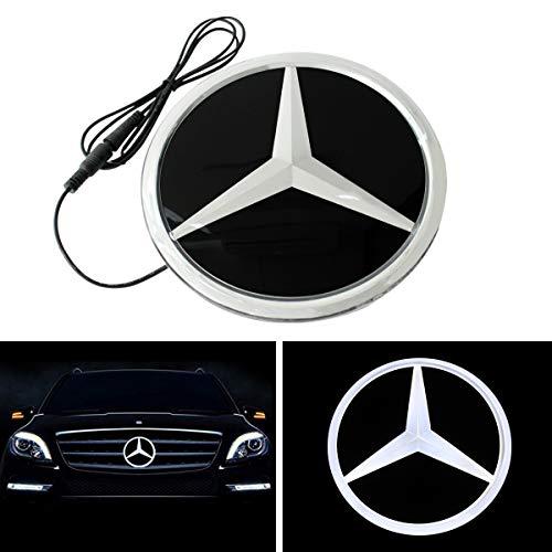 Auto Sport White LED Emblem Car Logo Grid LED Badge Front Light Mirror Surface For Mercedes Benz Accessory A/B/C/CLS/E/GLK/R Series