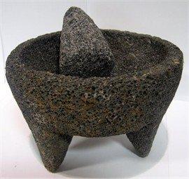 Molcajete Black - Molcajete de Piedra Negra / Black Stone Mortar & Pestle Molcajete