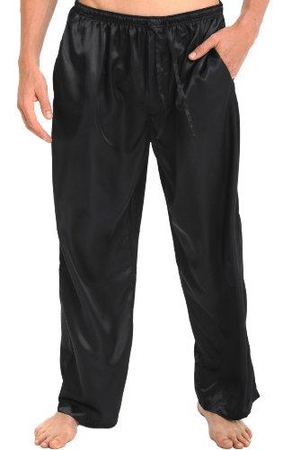 Del Rossa Men's Classic Satin Pajama Pants - Sleep Bottoms