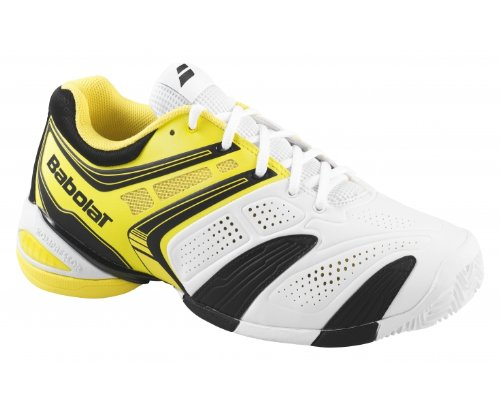 BABOLAT V-Pro 2 Clay Men's Tennis Shoe, White/Black/Yellow, US8