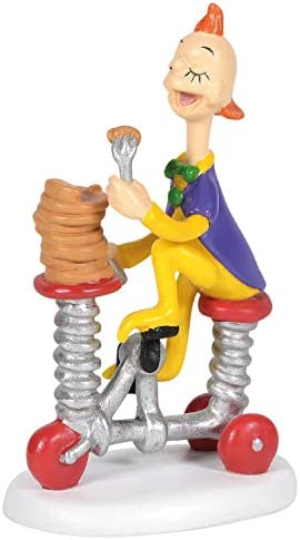 Department 56 Grinch Village Accessories Whoville Pancakes to Go Figurine 2.75 Inch Multicolor