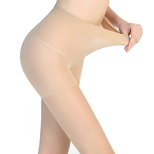 SK-ANGEL Women's 2 Pairs Super Translucent Control Top Pantyhose 20 Denier -