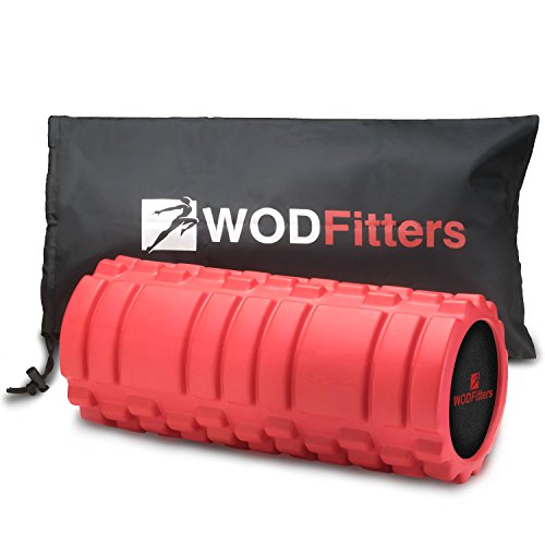 Foam Roller for Back Massage - WODFitters Textured Foam Rollers for Muscles, Trigger Point, Exercise, Workout and Recovery - High Density Roller Stick for Leg, Lumbar, Physical Therapy, Sports, Body