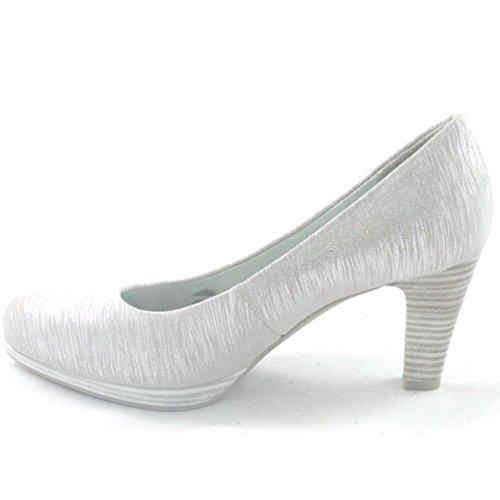 Marco Tozzi - Zapatos de vestir para mujer plateado plata