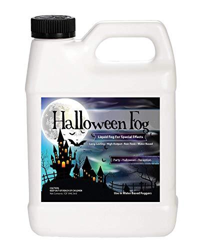 Sanco Industries Halloween Fog Juice - 1 Quart of Organic Fog Fluid - Medium Density, High Output, Long Lasting Fog Machine Fluid Made in -