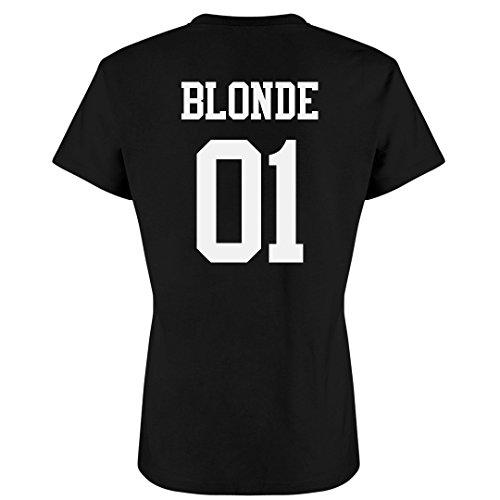 Customized Girl Blonde Best Friend Matching Tees: Ladies Slim Fit Favorite ()