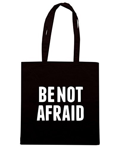 T-Shirtshock - Bolsa para la compra CIT0046 Be Not Afraid Negro