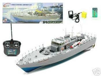 20″ RC Boat Navy Battle Ship HT-2877 (Color and Exact Model May Vary)