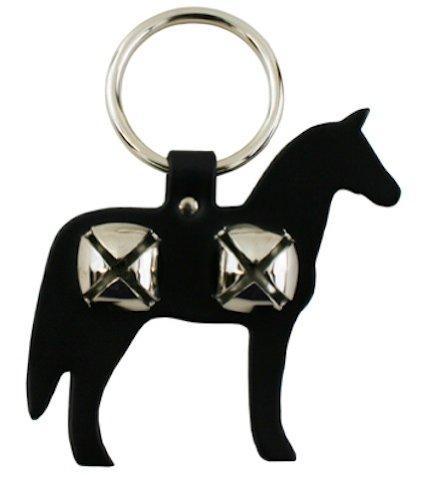 Leather Horse Bell Door Hanger - BLACK -