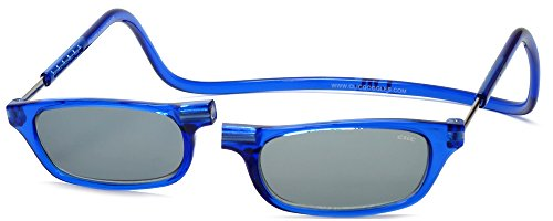 (Clic Magnetic Reading Sunglasses in Blue +2.25)