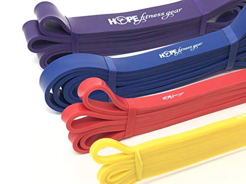 Hope Fitness Gear Large Loop Resistance Bands - Pull Up Assist Bands (Yellow, 72) -