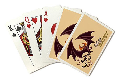 Halloween Bat - Retro Halloween (Playing Card Deck - 52 Card Poker Size with Jokers) -