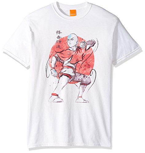 Nickelodeon Mens Aang Red Background T-Shirt