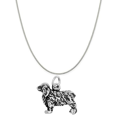 (Raposa Elegance Sterling Silver 3D Cocker Spaniel Charm on a Sterling Silver 20